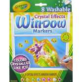 Crayola Crystal Effects Window Markers - 8 Piece Set